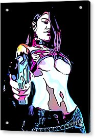 Girls With Guns Acrylic Print by Tbone Oliver