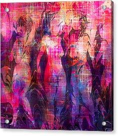 Girltalk Acrylic Print by Rachel Christine Nowicki