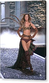 Gisele Bundchen At Fashion Show For The Acrylic Print by Everett