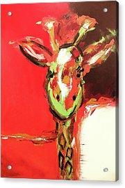 Giselle The Giraffe Acrylic Print