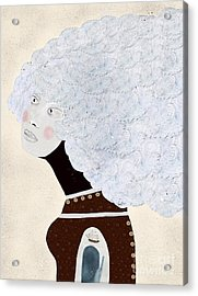 Acrylic Print featuring the painting Giulia by Bri B