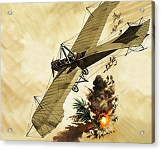Giulio Gavotti Drops The First Bomb From A Plane Acrylic Print