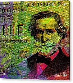 Giuseppe Verdi Portrait Banknote Acrylic Print