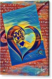 Give Love Acrylic Print