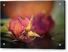 Give Me The Roses While I Live Acrylic Print by Maria Angelica Maira