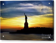 Give Me Your Tired Your Poor Your Huddled Masses Yearning To Breathe Free Acrylic Print by Arnie Goldstein