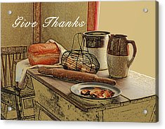 Give Thanks Acrylic Print by Michael Peychich