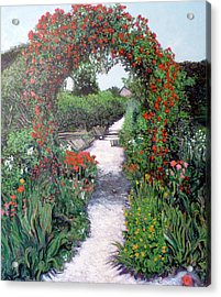 Giverney Garden Path Acrylic Print by Tom Roderick