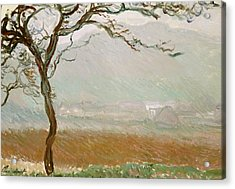 Giverny Countryside Acrylic Print by Claude Monet