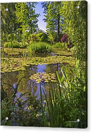 Acrylic Print featuring the photograph Giverny France - Claude Monet's Pond  by Allen Sheffield