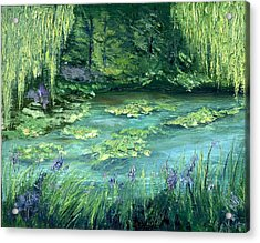 Acrylic Print featuring the painting Giverny by Gail Kirtz