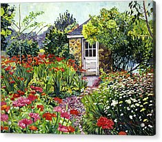 Giverny Gardeners House Acrylic Print by David Lloyd Glover
