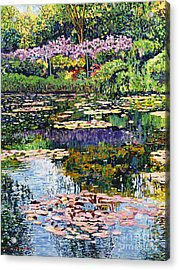 Giverny Reflections Acrylic Print by David Lloyd Glover