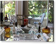 Giving Thanks In California Thanksgiving Table Acrylic Print