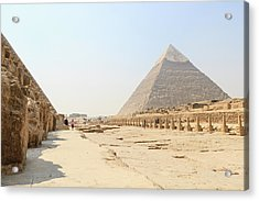 Acrylic Print featuring the photograph Giza by Silvia Bruno