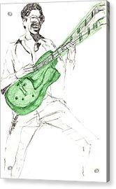 Gj Guitar  Acrylic Print