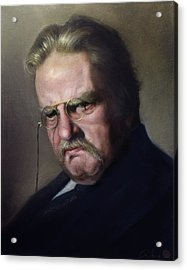 G.k. Chesterton Acrylic Print by Eric  Armusik