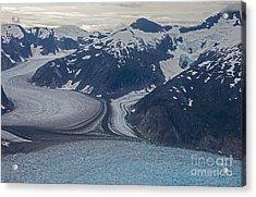 Glacial Curves Acrylic Print