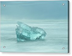 Glacial Iceberg Seascape. Acrylic Print by Andy Astbury
