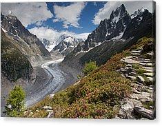 Glacier De La Mer De Glace Acrylic Print