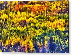 Glacier Fall Abstract Acrylic Print