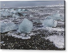 Acrylic Print featuring the tapestry - textile Glacier Ice 3 by Kathy Adams Clark