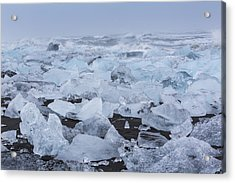 Acrylic Print featuring the tapestry - textile Glacier Ice by Kathy Adams Clark