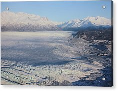 Acrylic Print featuring the photograph Glacier In Alaska by Jingjits Photography