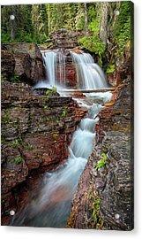 Glacier National Park Waterfall 2 Acrylic Print