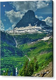 Glacier Park Valley View Acrylic Print by Harry Strharsky