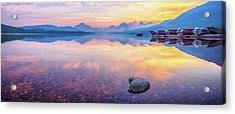 Glacier Pastels Acrylic Print