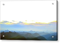 Glacier Peak At Sunrise Acrylic Print