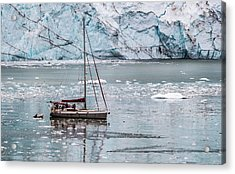 Acrylic Print featuring the photograph Glacier Sailing by Ed Clark