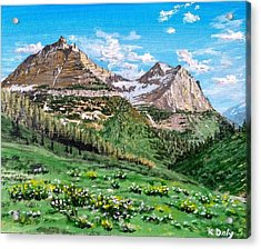 Acrylic Print featuring the painting Glacier Summer by Kevin Daly