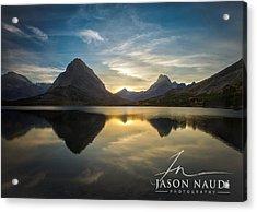Glacier Sunset Acrylic Print by Jason Naudi