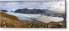 Acrylic Print featuring the photograph Glacier View by James Billings