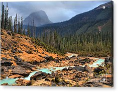 Acrylic Print featuring the photograph Glacier Waters Flowing Through Yoho National Park by Adam Jewell