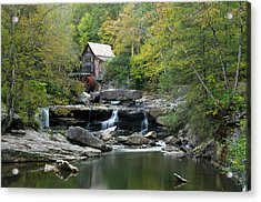 Acrylic Print featuring the photograph Glade Creek Grist Mill by Ann Bridges