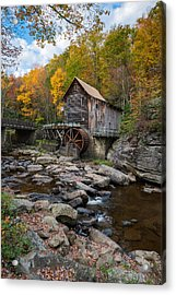 Glade Creek Grist Mill Babcock State Park Acrylic Print by Rick Dunnuck
