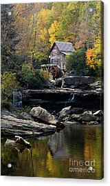 Acrylic Print featuring the photograph Glade Creek Grist Mill - D009975 by Daniel Dempster