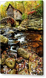 Glade Creek Grist Mill Fall  Acrylic Print