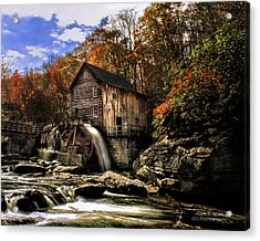Glade Creek Grist Mill Acrylic Print by Mark Allen