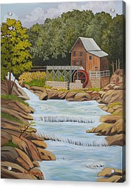 Glade Creek Grist Mill West Virginia Sold Acrylic Print by Ruth  Housley
