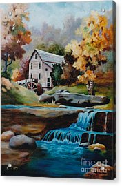 Glade Creek Mill Acrylic Print by Brenda Thour