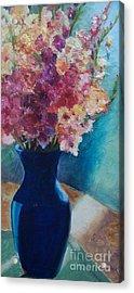 Gladioli-blue Acrylic Print