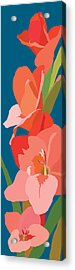 Gladiolus Acrylic Print by Marian Federspiel