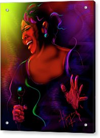 Acrylic Print featuring the painting Gladys Knight by DC Langer