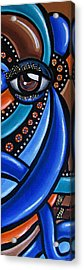 Abstract Eye Art Acrylic Eye Painting Surreal Colorful Chromatic Artwork Acrylic Print