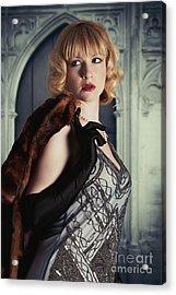 Glamorous Twenties Woman Acrylic Print by Amanda Elwell