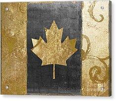 Glamour Gold Canada Flag Acrylic Print